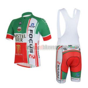 2013 Team FOCUS Cycling Bib Kit Green Red
