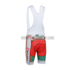 2013 Team FOCUS Cycling Bib Shorts Green Red