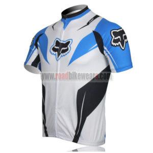 2013 Team FOX Biking Jersey White Blue