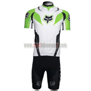 2013 Team FOX Biking Kit White Green