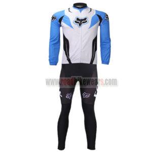 2013 Team FOX Cycle Long Kit White Blue