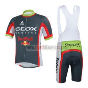 2013 Team GEOX RedBull Cycling Bib Kit Grey Red