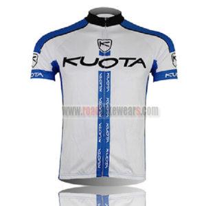 2013 Team KUOTA Cycling Jersey White Blue