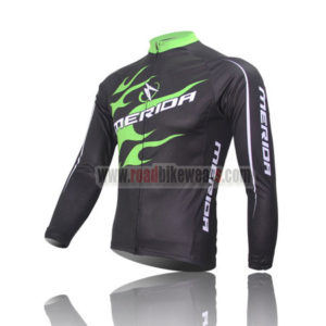 2013 Team MERIDA Cycle Long Jersey Black Green