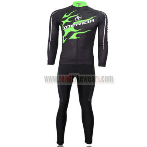 2013 Team MERIDA Cycle Long Kit Black Green