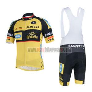 2013 Team MTN Qhubeka Biking Uniform Cycle Jersey and Padded Bib Shorts  Roupas Bicicleta Yellow Black 2dea1fd78