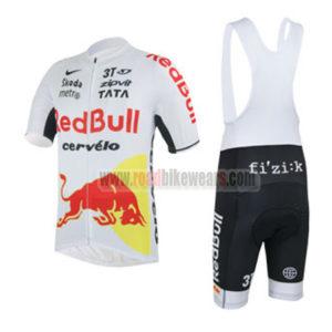 2013 Team RedBull cervelo Cycling Bib Kit White Red