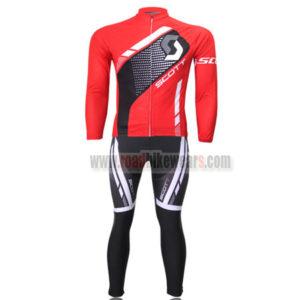 2013 Team SCOTT Bicycle Long Kit Red