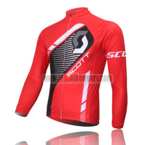 2013 Team SCOTT Cycle Long Jersey Red