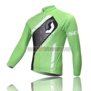 2013 Team SCOTT Cycling Long Jersey Green