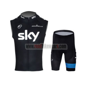 2013 Team SKY rapha Pro Bike Sleeveless Kit
