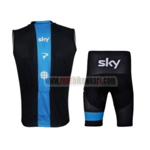 2013 Team SKY rapha Pro Cycling Sleeveless Kit