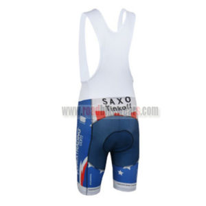 2013 Team Tinkoff SAXO BANK Cycling Bib Shorts Blue White Red