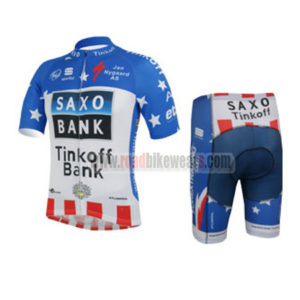 2013 Team Tinkoff SAXO BANK Pro Riding Uniform Cycle Jersey and Padded  Shorts Roupas Bicicleta Blue White Red c12d9c5d0