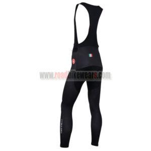 2014 Castelli Cycling Long Bib Pants Black White