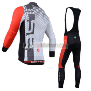 2014 Castelli Riding Long Bib Kit Grey Red