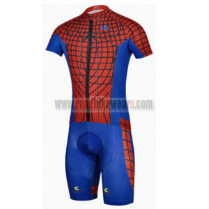 2014 Spider Man Cycling Kit Red Blue
