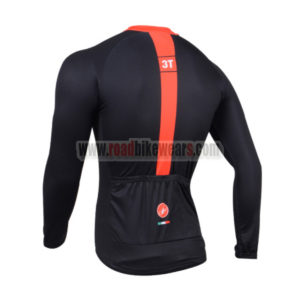 2014 Team 3T Castelli Bicycle Long Jersey Black Red