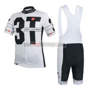 2014 Team 3T Castelli Cycling Bib Kit White Black