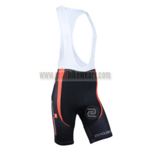 2014 Team 3T Cycling Bib Shorts Black Red