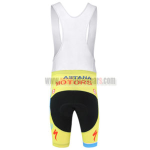 2014 Team ASTANA Riding Bib Shorts Yellow