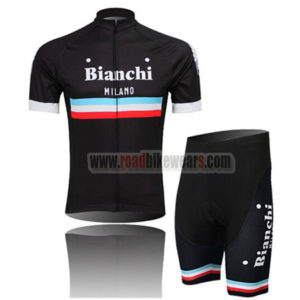 2014 Team Bianchi MILANO Riding Wear Cycle Jersey and Padded Shorts Roupas  Bicicleta Black 1429d6cca