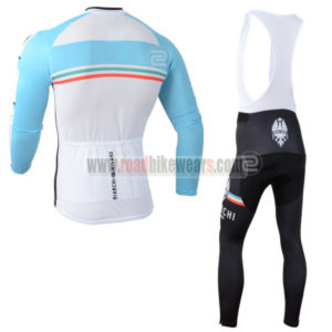 2014 Team BIANCHI Riding Long Bib Kit Blue White