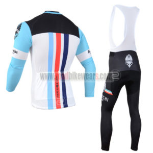 2014 Team BIANCHI Cycle Apparel Biking Long Sleeves Jersey and Padded Bib  Pants Tights Roupas De Ciclismo Blue White Black ece09fdc2
