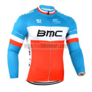 2014 Team BMC Cycling Long Jersey Blue Red