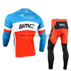 2014 Team BMC Cycling Long Kit Blue Red