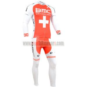 2014 Team BMC Cycling Long Set Red White Cross