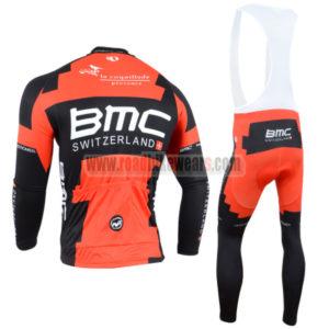 2014 Team BMC Riding Long Bib Kit Red Black