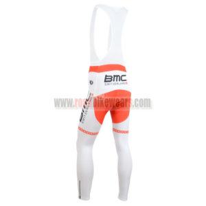 2014 Team BMC Riding Long Bib Pants Red White Cross
