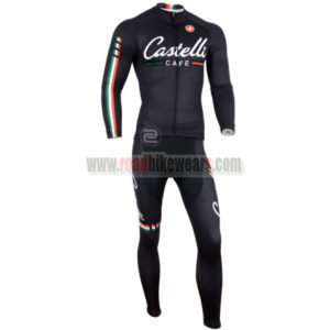 2014 Team CASTELLI Cycle Long Kit Black