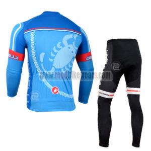 2014 Team Castelli Biking Long Kit Blue