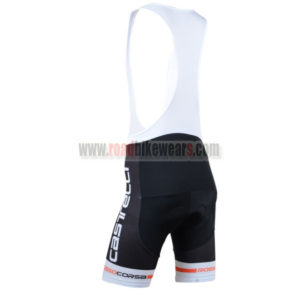 2014 Team Castelli Cycle Bib Shorts Black White