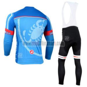2014 Team Castelli Riding Long Bib Kit Blue