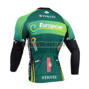 2014 Team Europcar Bicycle Long Jersey Green