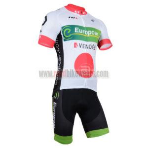 2014 Team Europcar Pro Cycling Kit White Red