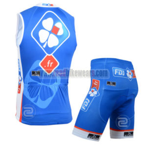 2014 Team FDJ Cycling Vest Sleeveless Kit