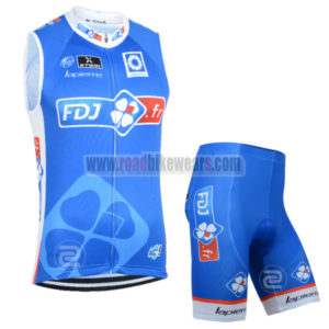 2014 Team FDJ Riding Vest Sleeveless Jersey