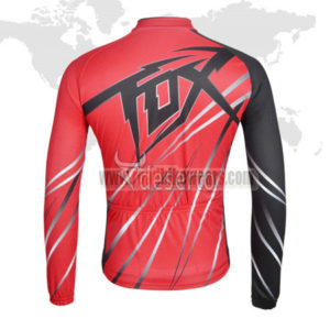 2014 Team FOX Cycle Long Jersey Red Black