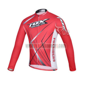 2014 Team FOX Cycling Long Jersey Red
