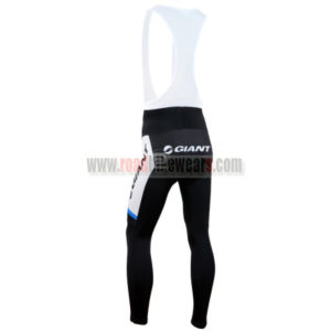 2014 Team GIANT Riding Long Bib Pants Black White