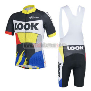 2014 Team LOOK Cycling Bib Kit Colorful