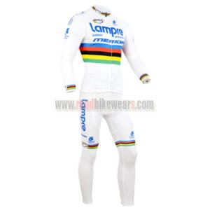 2014 Team Lampre MERIDA UCI Champion Biking Long Jersey White