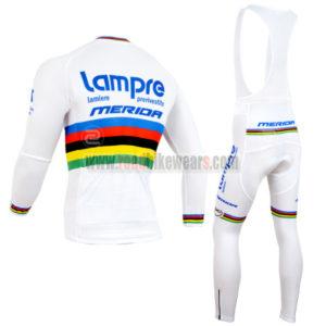 2014 Team Lampre MERIDA UCI Champion Riding Long Bib Kit White