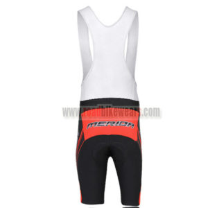 2014 Team MERIDA Riding Bib Shorts Black White Red