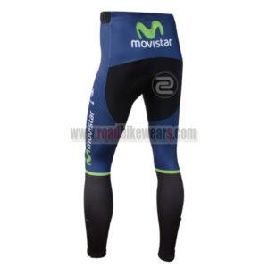 2014 Team Movistar Biking Long Pants Blue