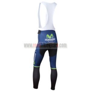 2014 Team Movistar Riding Long Bib Pants Blue